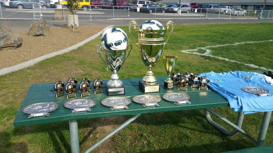 The awards table at the YWSA Finals Sunday in Yakima. (Facebook)