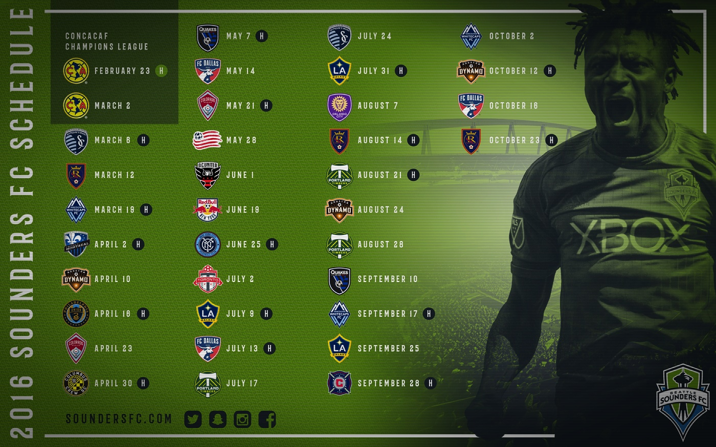Sounders FC Announce 2013 MLS Reserve Schedule | goalWA.net