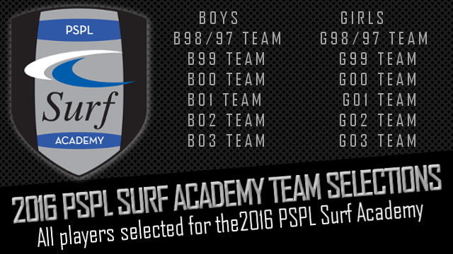 List of PSPL Surf Players - Feb 2016
