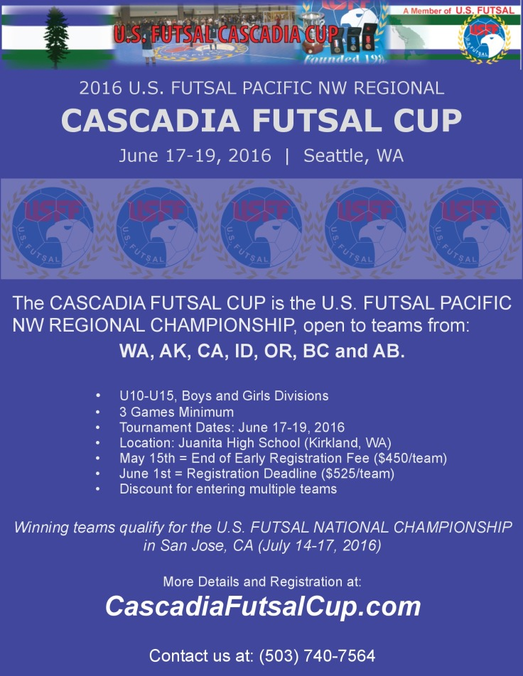 cascadia futsal cup - flyer