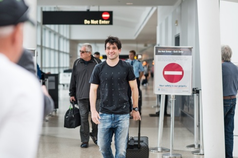 Lodeiro-Arriving at Airport
