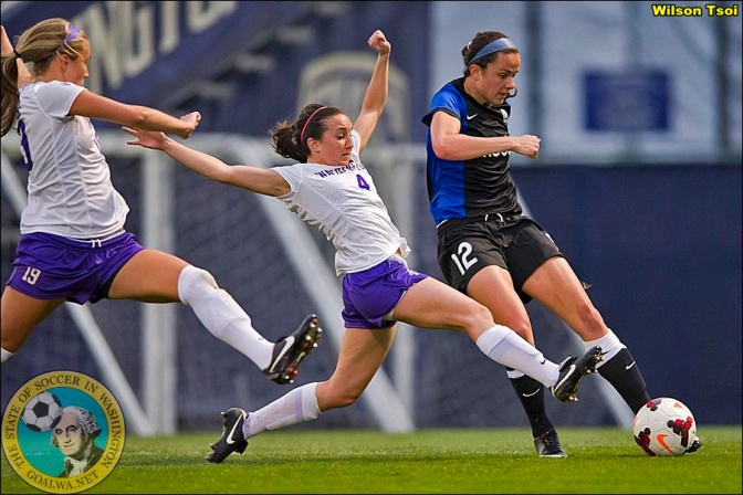 Seattle Reign FC kicks off its 2014 campaign with a 5-0 victory over Washington Huskies.