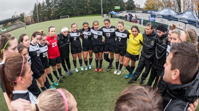 Shoreline CC women's soccer plays Spokane in NWAC Semi-final