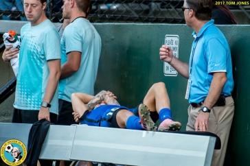 Jess Fishlock injury. (Tom Jones)