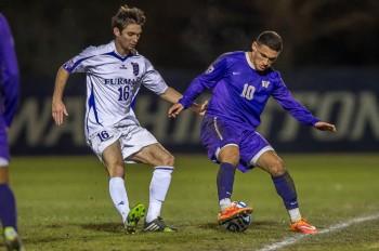 Washington men's soccer team defeats Furman in PK shootout in NCAA D1 second round at Husky Soccer Stadium on November 23, 2014