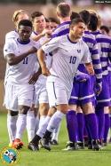 University of Washington men's soccer team defeats University of Portland 2-1 in extra time at Merlo Field on September 27, 2014.