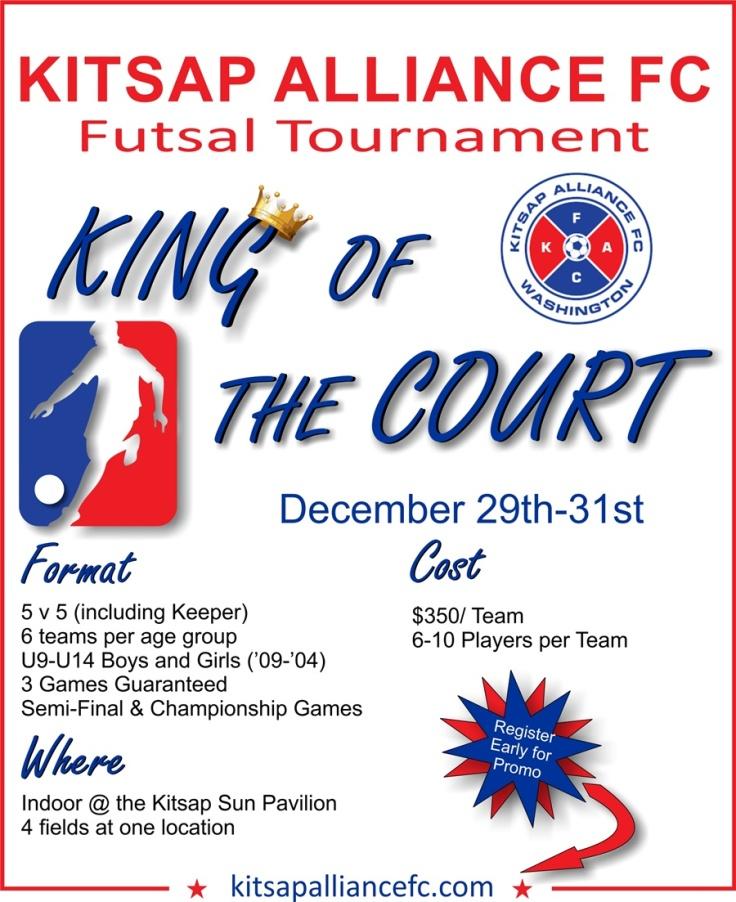 Kitsap Alliance FC Futsal Tournament Flyer