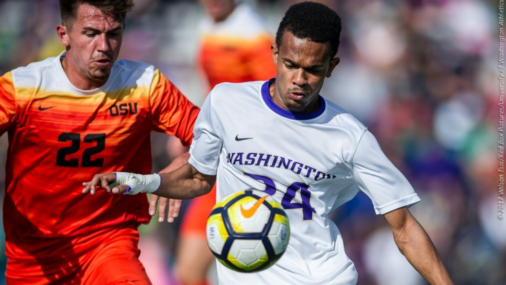 Washington Huskies men's soccer defeats Oregon State Beavers 2-1