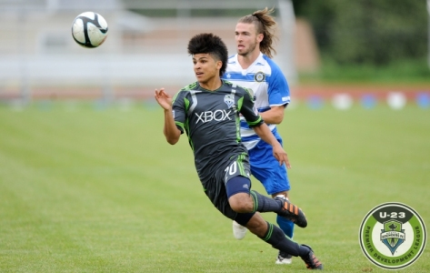 Seattle Sounders U23 player DeAndre Yedlin (20) during the match between Seattle Sounders FC U23s vs. Kitsap Pumas